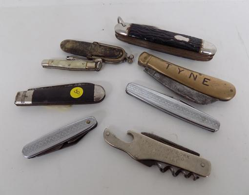 8x Assorted vintage/antique pen knives