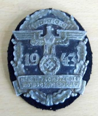German Military 1943 N.S.K.K. badge - unusual piece