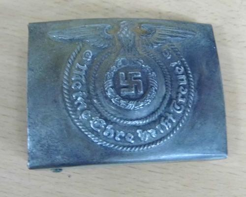 Vintage German Military belt buckle, casting marks on reverse