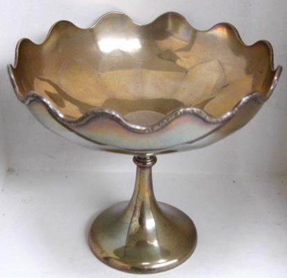 Silver, fully marked, trinket dish