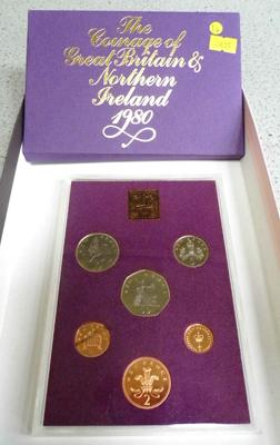 Royal mint coin year set 1980