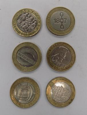 6 collectable £2 coins