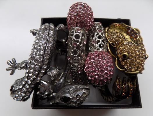 3 decorative costume bangles