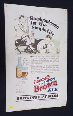 Newcastle Brown Ale metal sign