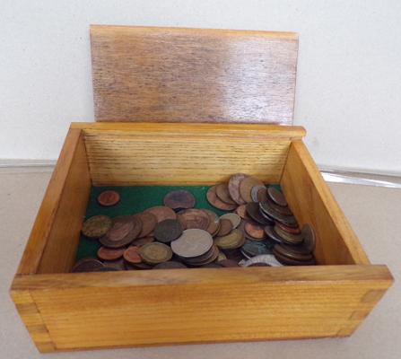 Box containing various coinage inc Foreign & UK