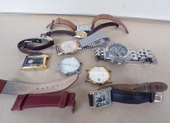 Selection of 9 vintage watches