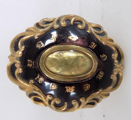 Antique Georgian in memory mourning brooch