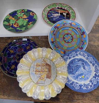 Selection of named plates, incl. Doulton