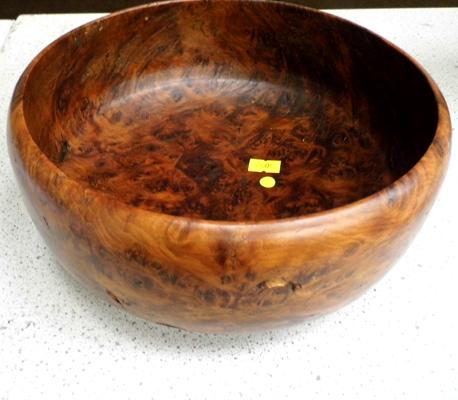 Burr walnut fruit bowl