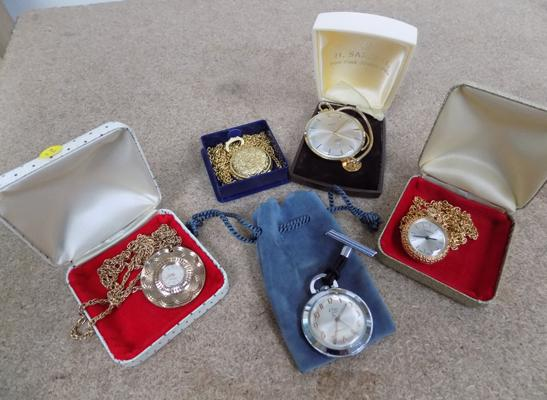 5 mixed pocket watches