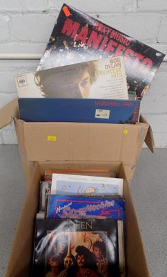 Box of LP records + box of singles