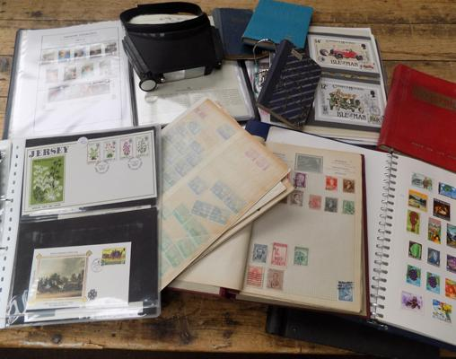 Box of albums - stamps/FDCs etc...