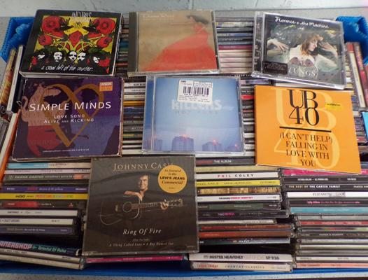 Box of over 175 CDs, incl.Rock, Soul, Country, Indie, Dance etc...