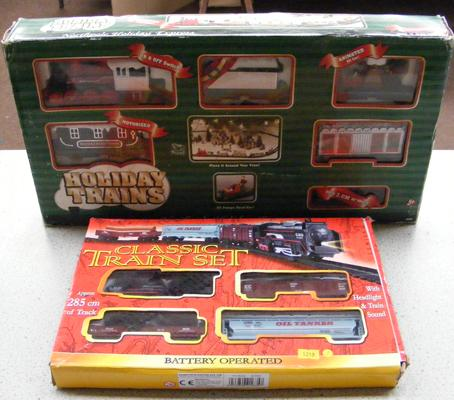 2 toy train sets