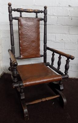 Circa 1890 American child's spindlework chair