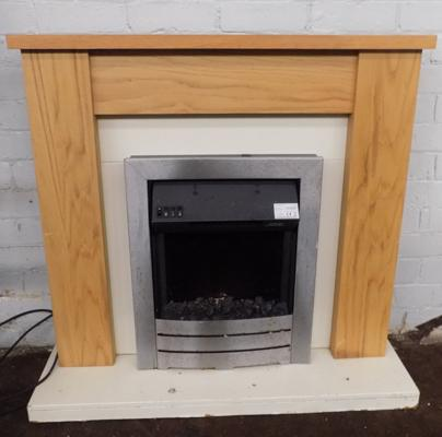 Adam electric fire + surround - W/O