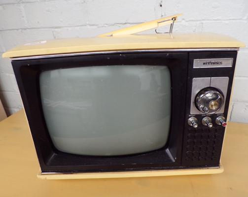 Vintage 12 inch Winthronics portable TV