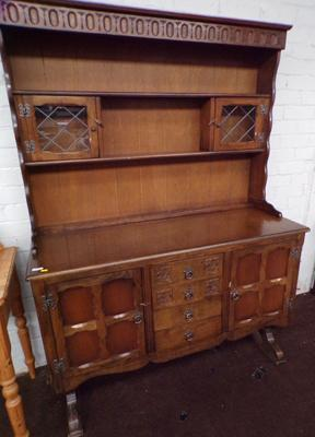 Old charm style dresser with ornate carvings