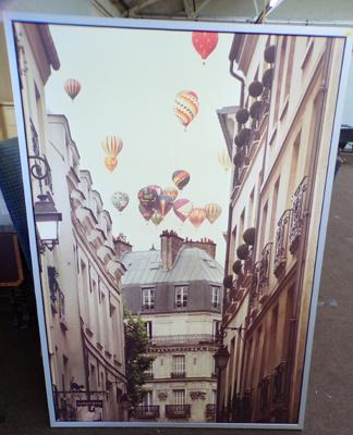 Large framed print - Balloons over Paris - 40 x 55 inches