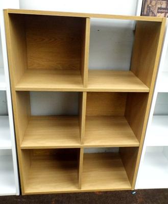 Light oak 6 cube unit