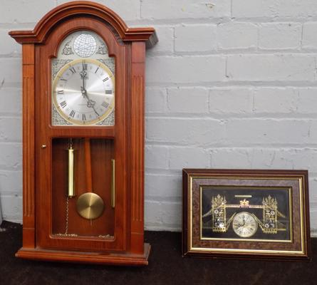 2 x wall clocks