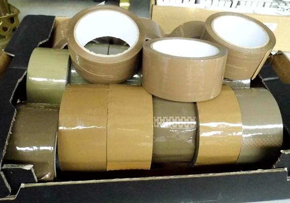 18 rolls of brown tape