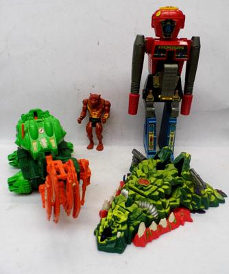 Vintage Toys incl. Robot gun, Thundercats, Turtles + Mighty Max