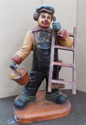 Resin clown window cleaner