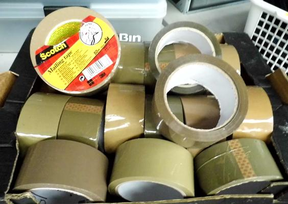 18 new rolls of brown tape