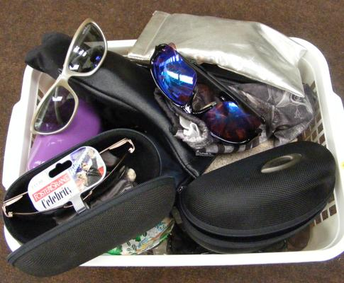 Box of mixed sunglasses