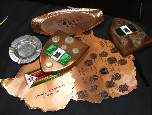 Collection of Rhodesian copper collectables