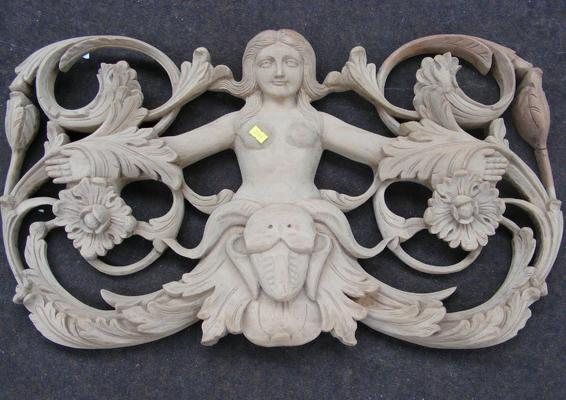 Ornate wooden carving