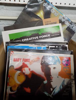 "Mixed box of 12"" singles inc house, techno, dance etc"