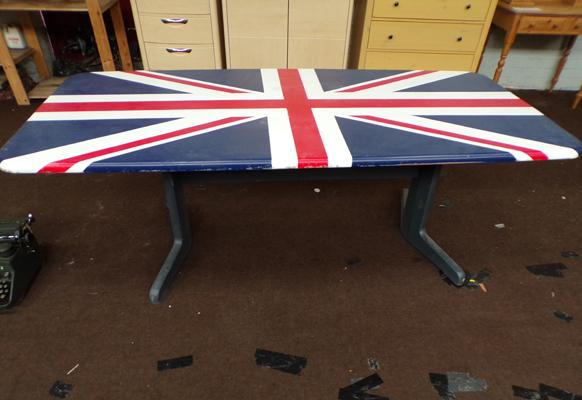 Union Jack table approx. 36 inches x 78 inches