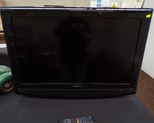 Videocon flatscreen TV, 31 inches + remote - W/O