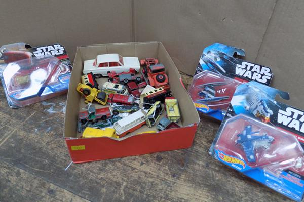 Selection of diecast + toys etc...