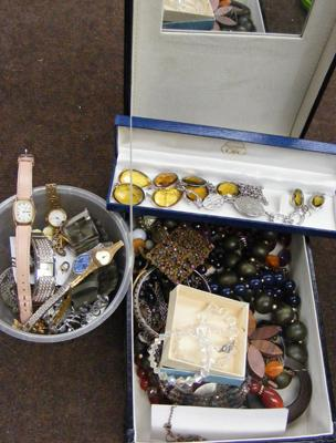 Box of costume jewellery
