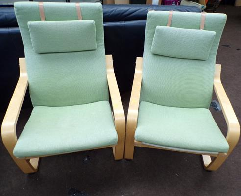 Pair of IKEA easy chairs