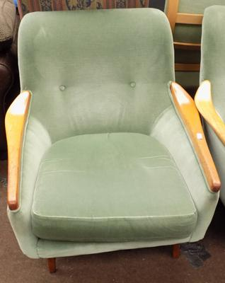 Vintage designer fireside chair