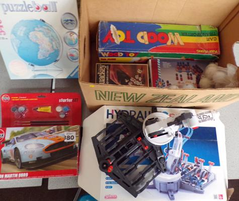Box of boxed toys, incl. Airfix, Hit Robot etc...