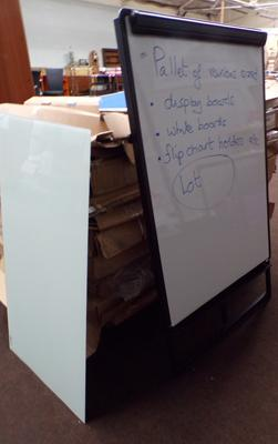 Pallet of display stands, flip chart holders & whiteboards etc...