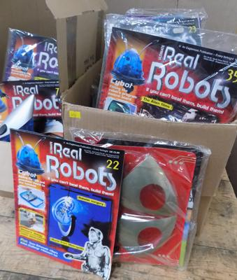 2 x boxes of 'Real Robots' magazines, unchecked