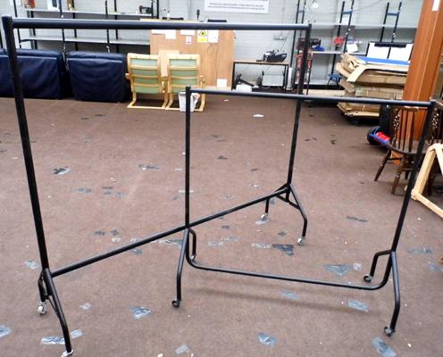 2 industrial clothes rails