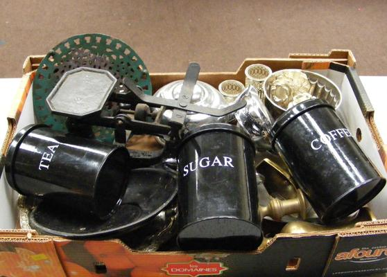 Box of metalware