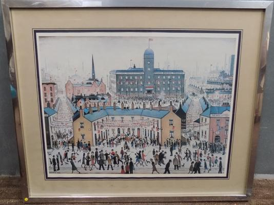 Lowry framed print - 32 x 26 1/4 inches