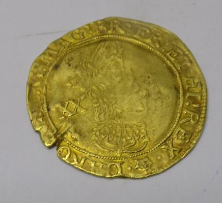 Antique Charles I - 22 carat Gold - Florent Concordia Regina coin -  dated 1625