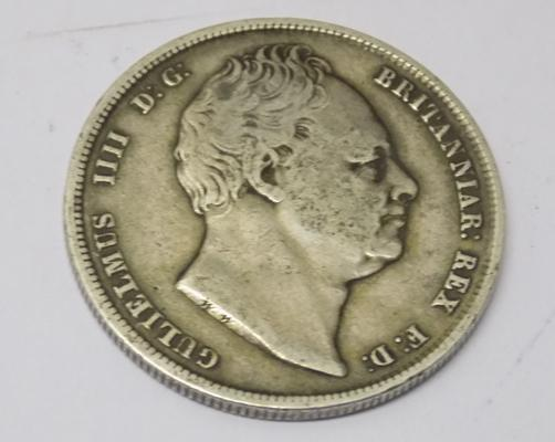 1836 William IV - milled silver Half Crown coin