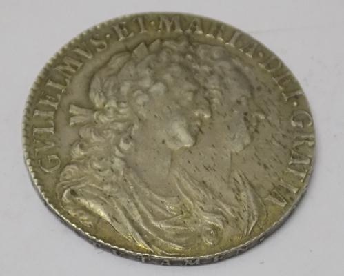 1689 William & Mary - Half Crown coin