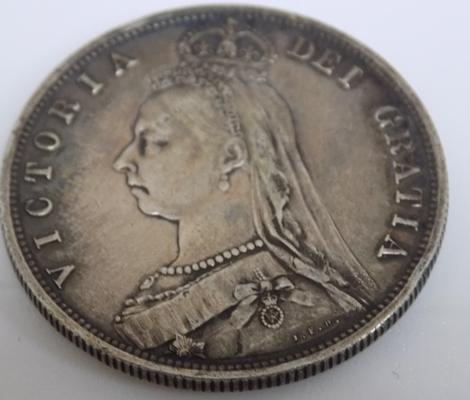 1887 Victorian - Jubilee head - Half Crown coin