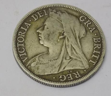 1894 Victorian - silver Half Crown coin